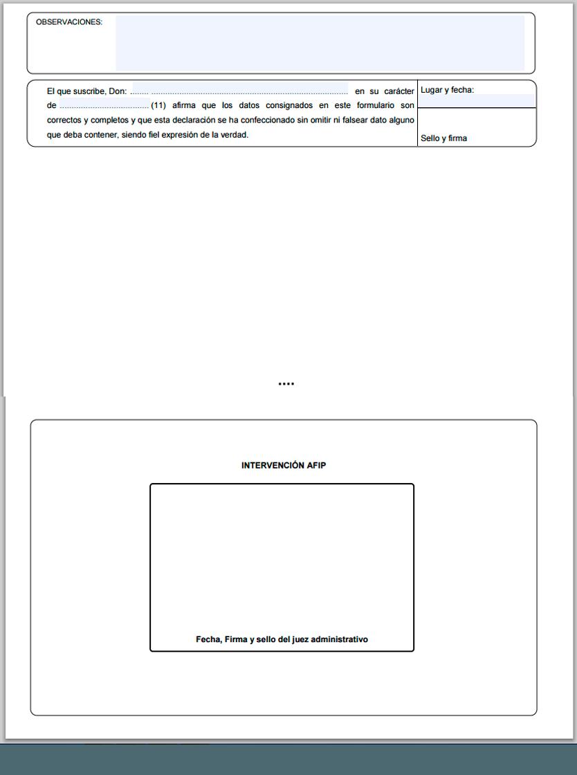 Qué es el formulario CETA de la AFIP?. Grufoos.com