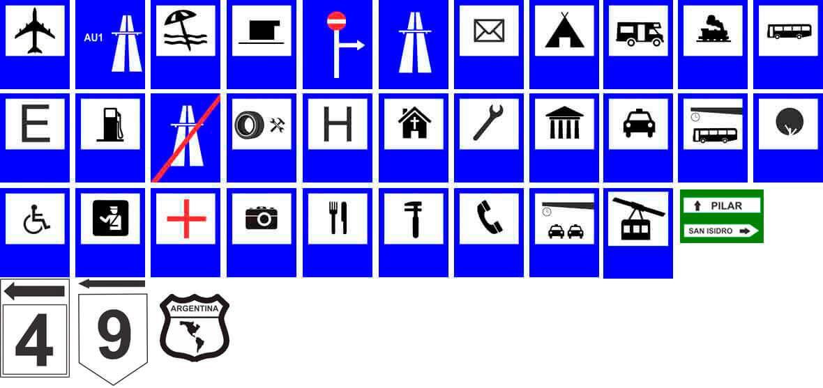 Señales de tránsito informativas o información