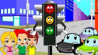 Señales de tránsito para niños.